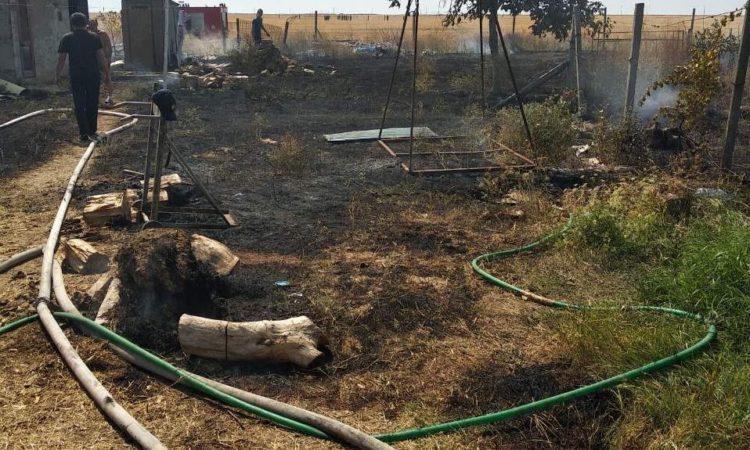 На курорте Херсонщины тушили пожар – огонь мог наделать большой беды