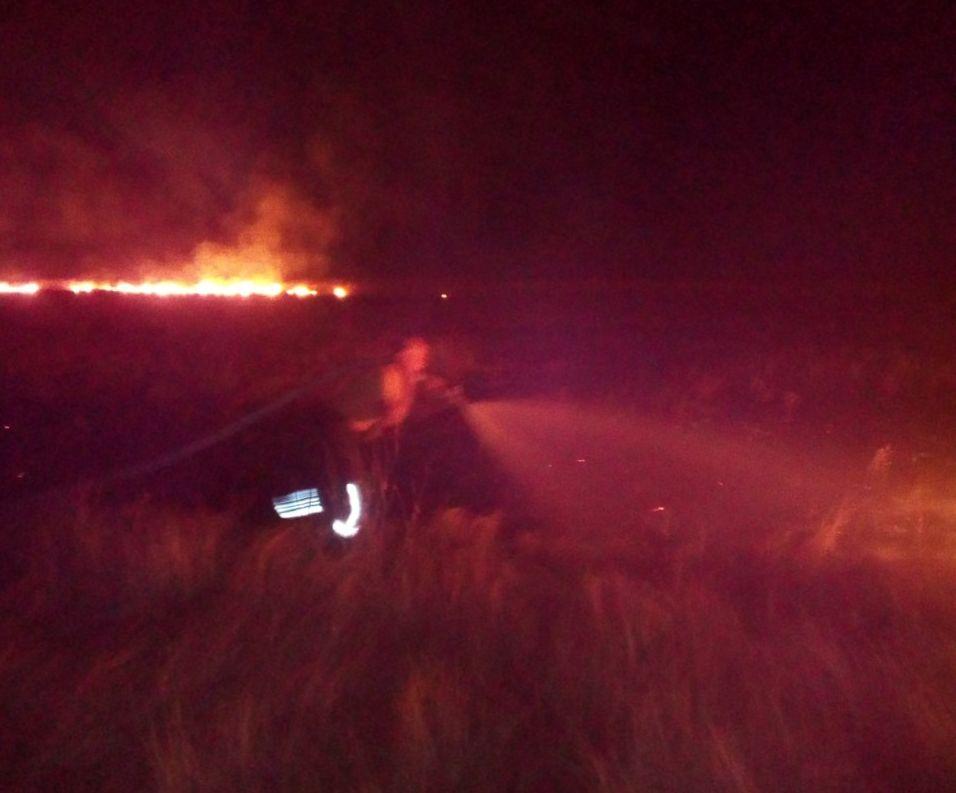 На Арабатской стрелке был пожар рядом с газораспределительной станцией